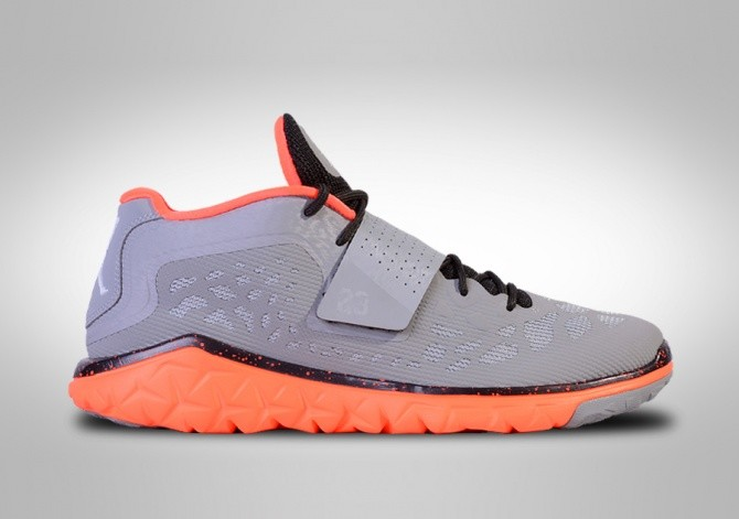 NIKE AIR JORDAN FLIGHT FLEX TRAINER 2 WOLF GREY/ORANGE