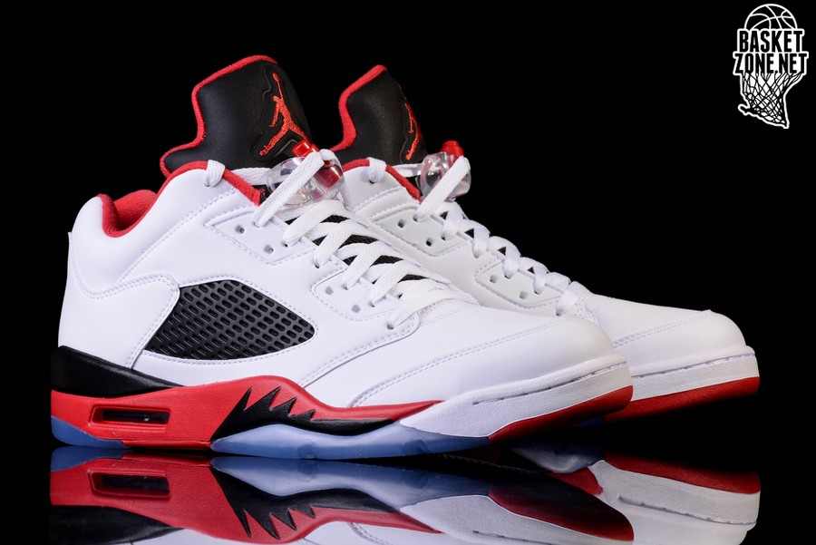 lowest price ff6f1 56706 NIKE AIR JORDAN 5 RETRO LOW FIRE RED