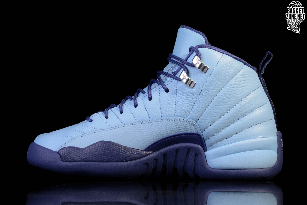 NIKE AIR JORDAN 12 RETRO NORTH CAROLINA TAR HEELS BG (SMALLER SIZES). 510815 -418 c6aa5a2cc