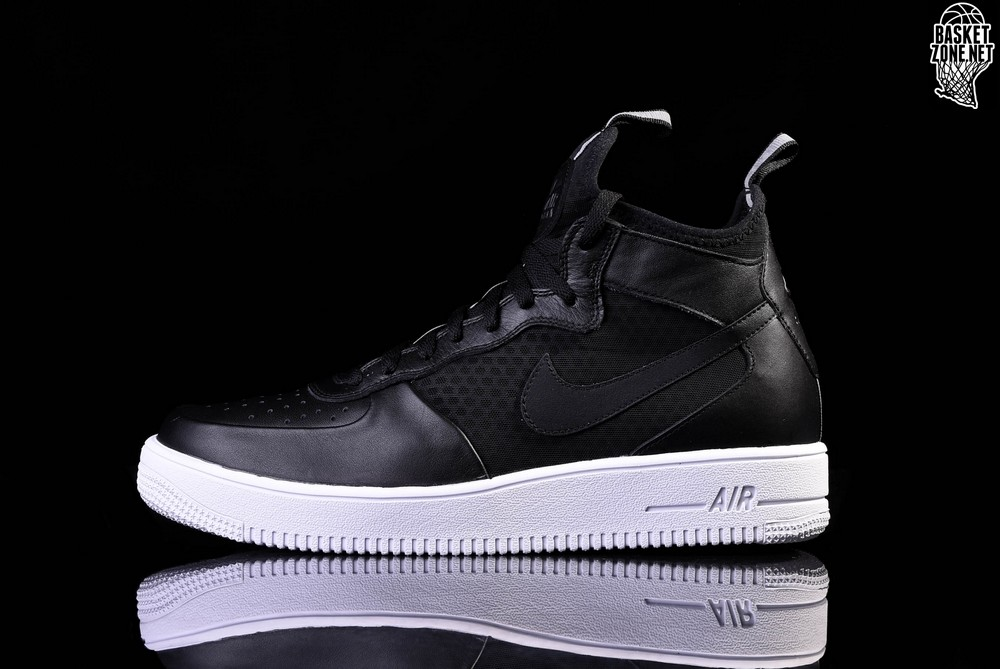 Nike Air Force 1 Ultraforce Mid Trainers In Black 864014 001