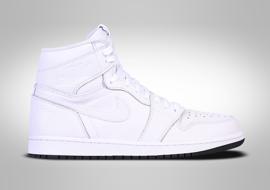 Details about Nike Air Jordan 1 Retro High OG Black White Perforated Size 8. 555088 002