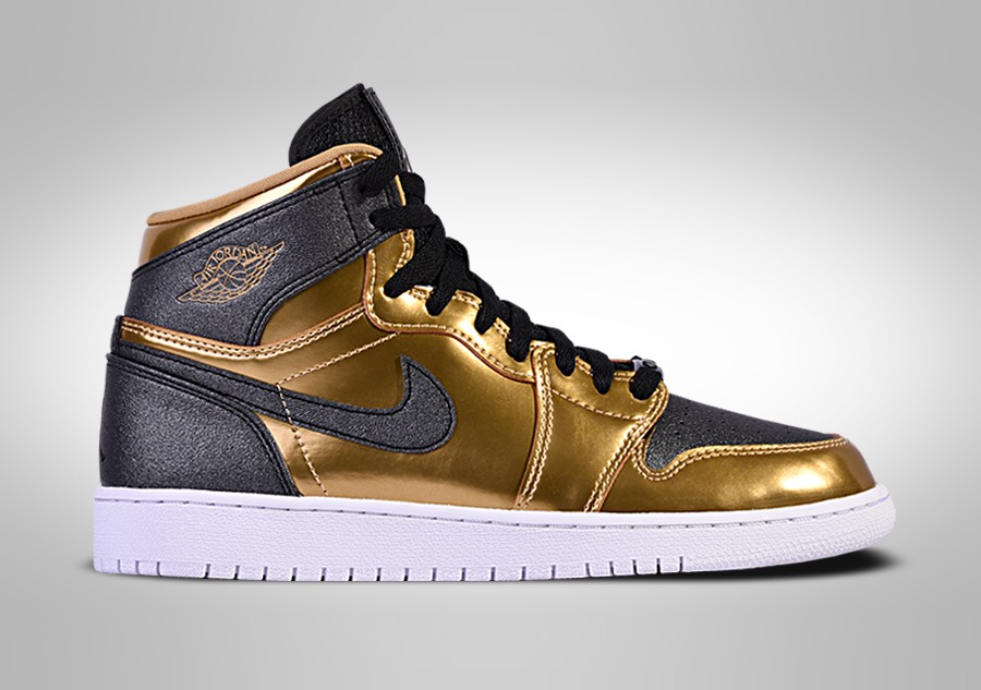 NIKE AIR JORDAN 1 RETRO HIGH BHM GG METALLIC GOLD/BLACK-WHITE
