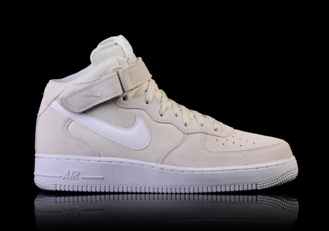 NIKE AIR FORCE 1 MID '07 LIGHT BONE