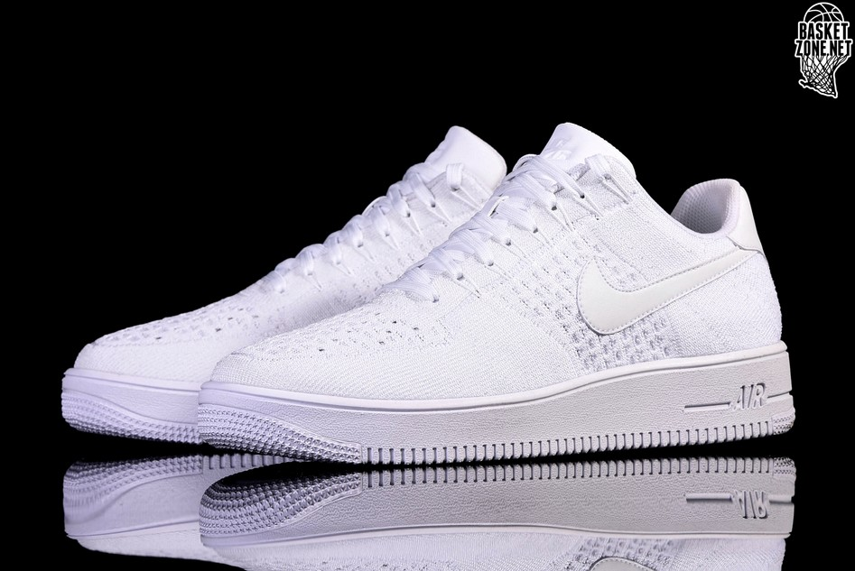 nike air force flyknit low bianche