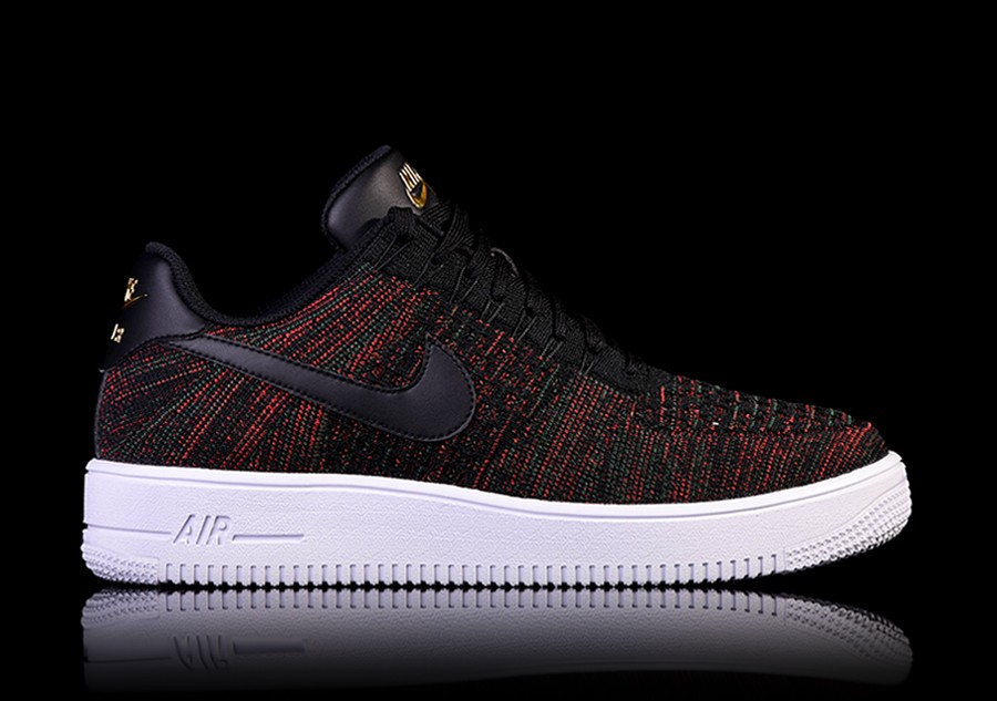 nike air force flyknit low zwart