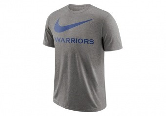 NIKE NBA GOLDEN STATE WARRIORS DRY TEE SWOOSH DK GREY HEATHER