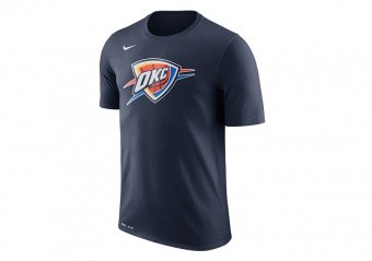NIKE NBA OKLAHOMA CITY THUNDER DRY LOGO TEE COLLEGE NAVY