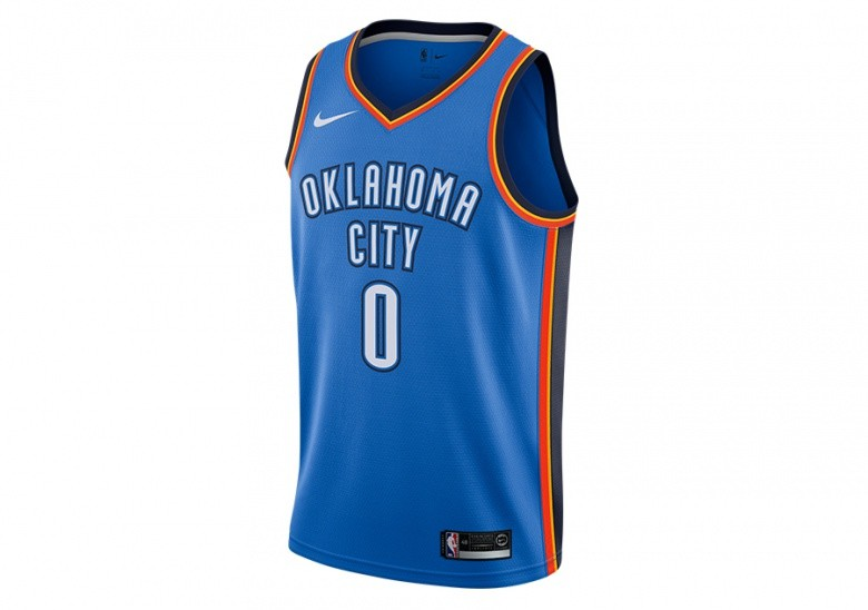NIKE NBA OKLAHOMA CITY THUNDER ROAD SIGNAL BLUE