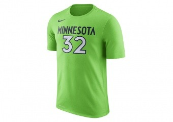 NIKE NBA MINNESOTA TIMBERWOLVES DRY TEE N&N ACTION GREEN