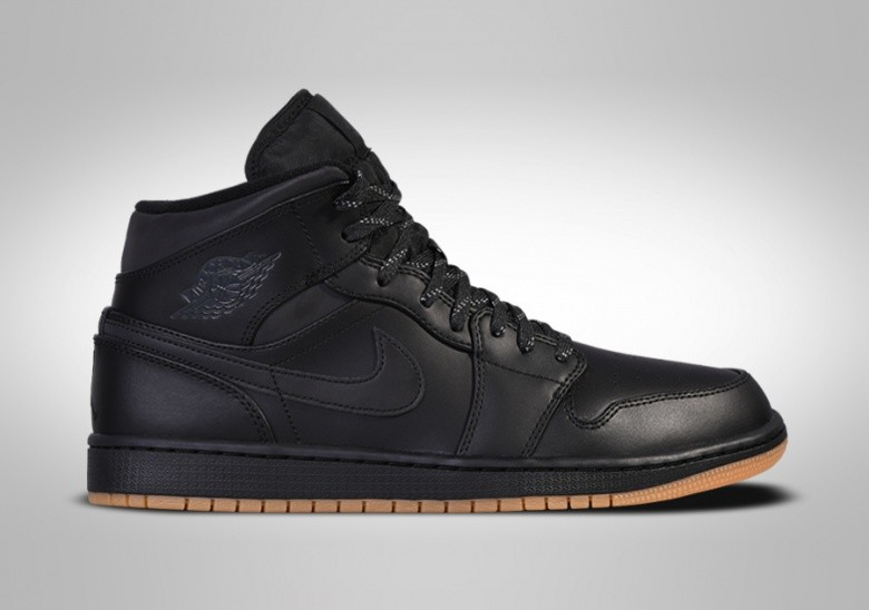 NIKE AIR JORDAN 1 RETRO MID WINTERIZED BLACK