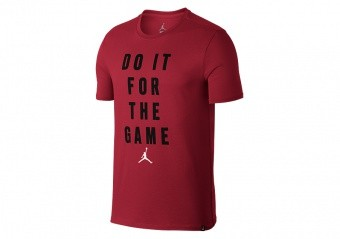 NIKE AIR JORDAN JMTC 'FOR THE GAME' TRAINING TEE GYM RED
