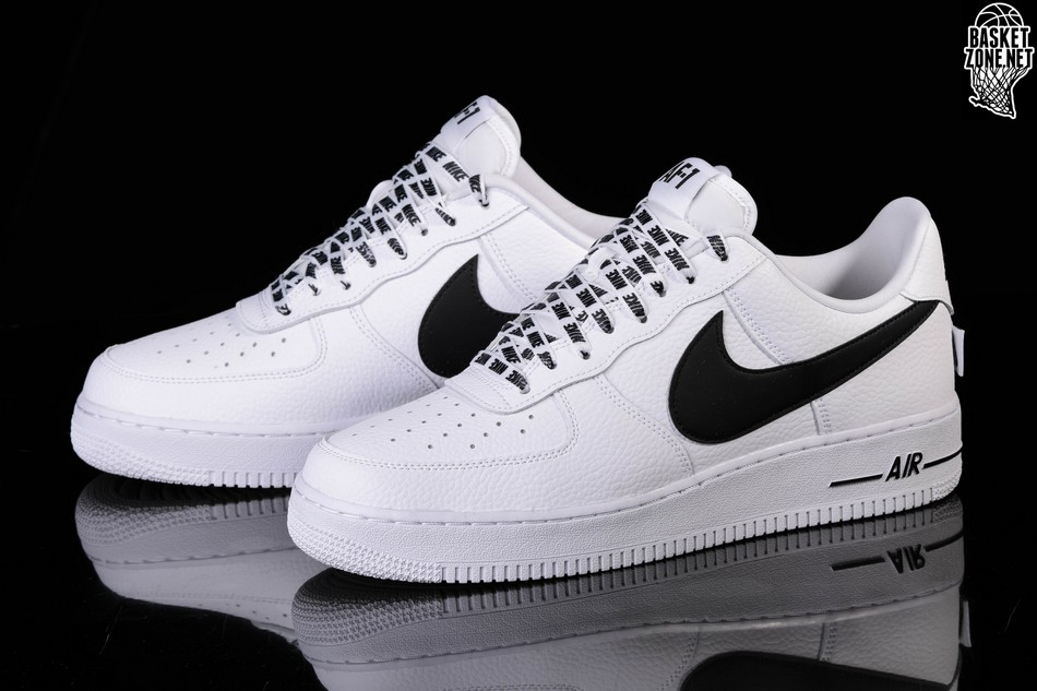 NIKE AIR FORCE 1 '07 LV8 NBA PACK WHITE BLACK