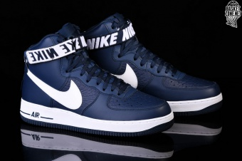 detailed look 83c31 4b55c NIKE AIR FORCE 1 HIGH 07 NBA COLLEGE NAVY