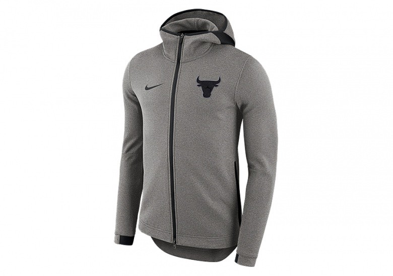 NIKE NBA CHICAGO BULLS DRY SHOWTIME HOODIE DARK GREY
