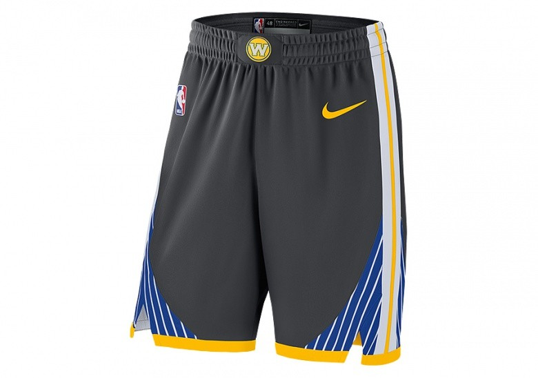 NIKE NBA GOLDEN STATE WARRIORS GSW AUTHENTIC SHORTS ANTHRACITE