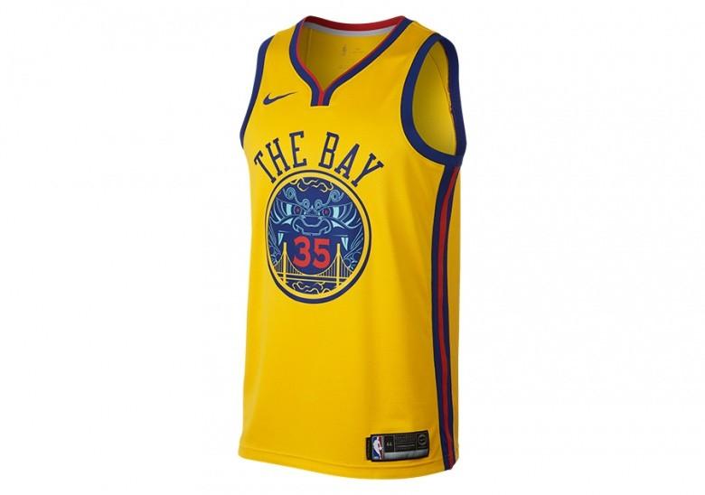 NIKE NBA KEVIN DURANT GOLDEN STATE WARRIORS CITY EDITION SWINGMAN JERSEY AMARILLO