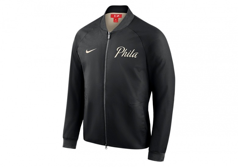 f3ea61df5 NIKE PHILADELPHIA 76ERS CITY EDITION MODERN JACKET BLACK per €132