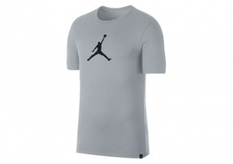 NIKE AIR JORDAN DRY JMTC 23/7 JUMPMAN BASKETBALL TEE WOLF GREY