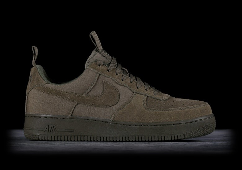 new product cceeb 48c61 NIKE AIR FORCE 1  07 CANVAS MEDIUM OLIVE