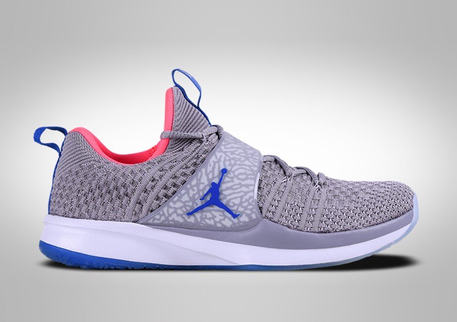 a7d5485966efe NIKE AIR JORDAN TRAINER 2 FLYKNIT GREY RACE BLUE price €92.50 ...