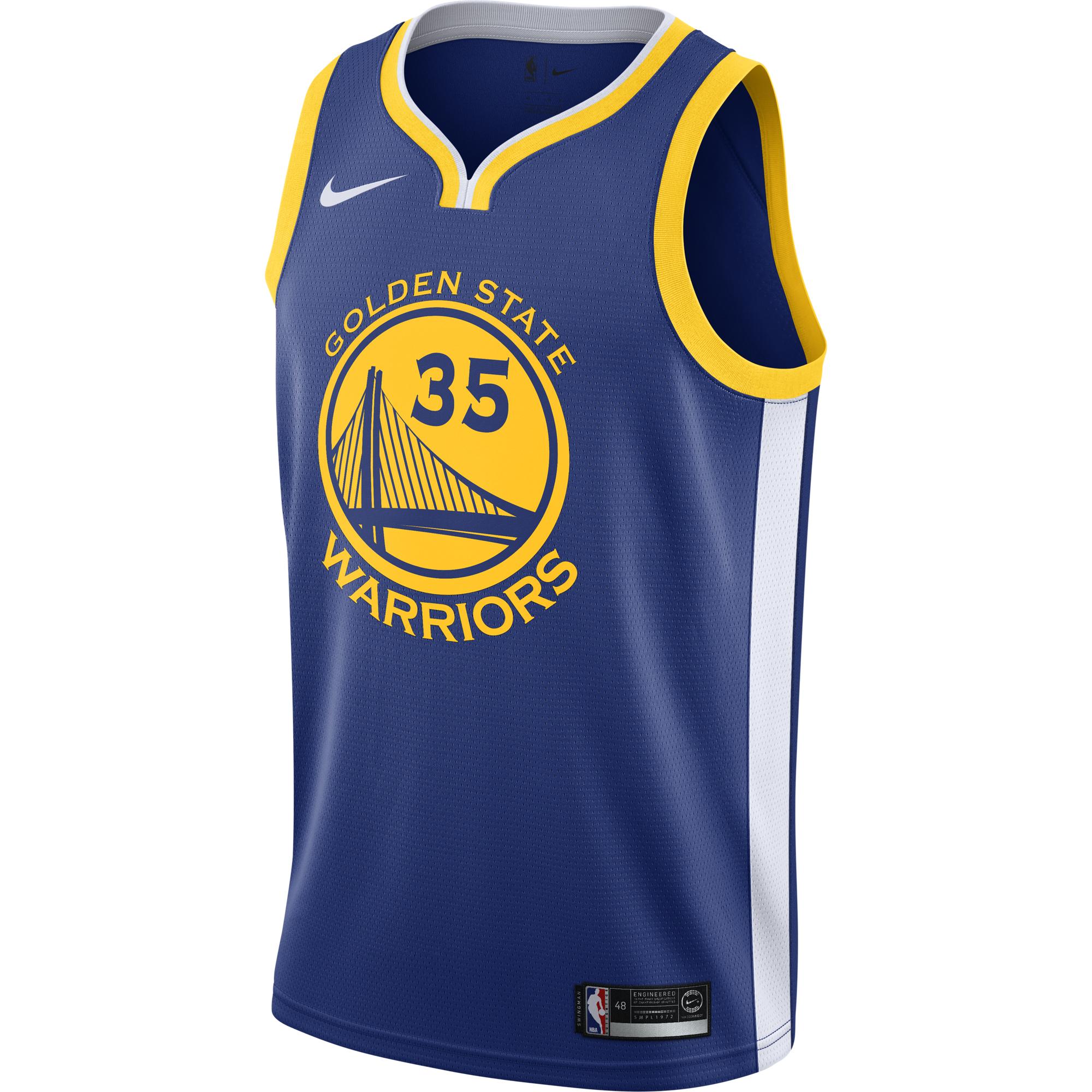 NIKE NBA GOLDEN STATE WARRIORS KEVIN DURANT SWINGMAN JERSEY ROAD