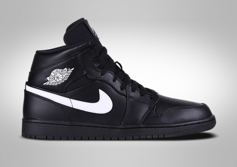 reputable site 2de63 adb95 NIKE AIR JORDAN 1 RETRO MID BLACK WHITE