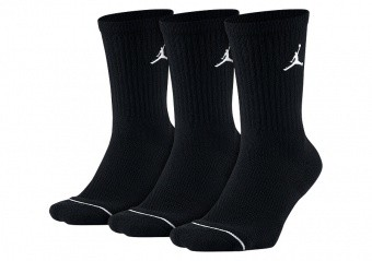 NIKE AIR JORDAN JUMPMAN CREW SOCKS BLACK