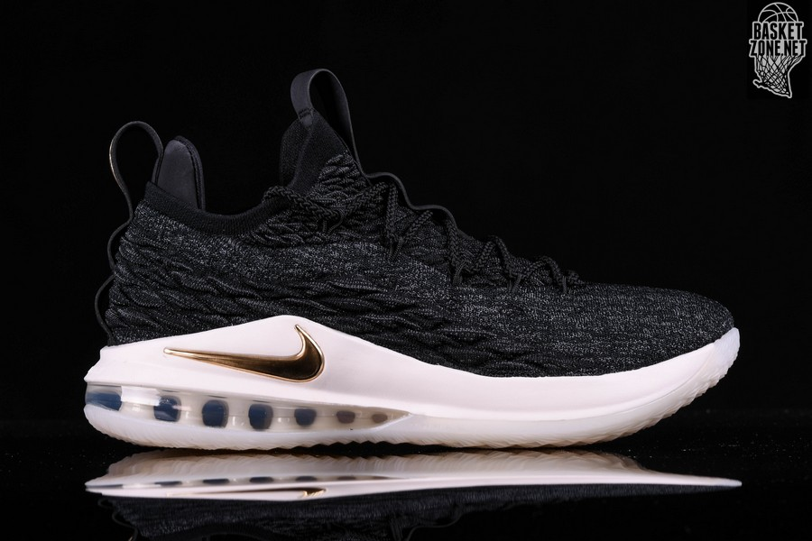 huge selection of c5c3e 9b167 NIKE LEBRON 15 LOW BLACK GOLD