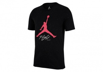 NIKE AIR JORDAN JUMPMAN FLIGHT DNA GRAPHIC 1 CEMENT TEE BLACK