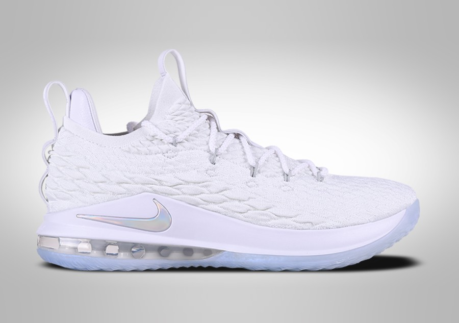 8755edb4338 NIKE LEBRON 15 LOW WHITE METALLIC price €147.50