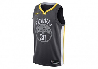 NIKE NBA GOLDEN STATE WARRIORS STEPHEN CURRY SWINGMAN JERSEY ANTHRACITE