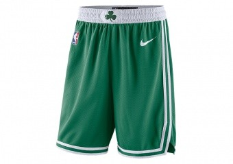 NIKE NBA BOSTON CELTICS SWINGMAN ROAD SHORTS CLOVER