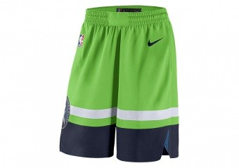 NIKE NBA MINNESOTA TIMBERWOLVES SWINGMAN SHORTS ACTION GREEN