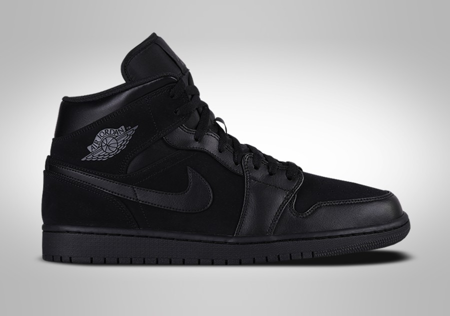 new style a4613 14b79 NIKE AIR JORDAN 1 RETRO MID TRIPLE BLACK