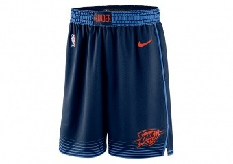 NIKE NBA OKLAHOMA CITY THUNDER SWINGMAN SHORTS COLLEGE NAVY
