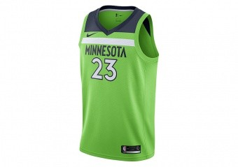 NIKE NBA MINNESOTA TIMBERWOLVES JIMMY BUTLER SWINGMAN JERSEY ACTION GREEN