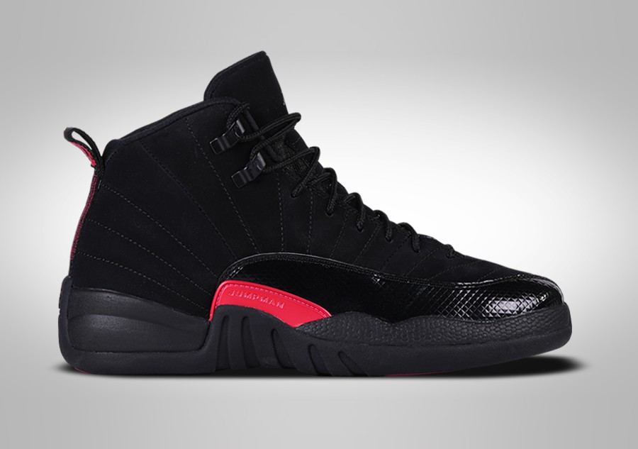 8d09249ba4fee NIKE AIR JORDAN 12 RETRO BLACK RUSH PINK GG für €137,50 | Basketzone.net