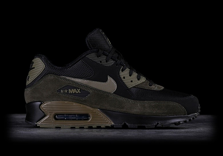 sports shoes a546c 13e1b NIKE AIR MAX 90 LEATHER MEDIUM OLIVE