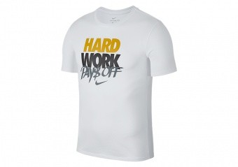 NIKE HARD WORK DRY ELITE TEE WHITE