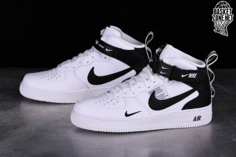 low priced 22433 09606 NIKE AIR FORCE 1 MID  07 LV8 UTILITY WHITE