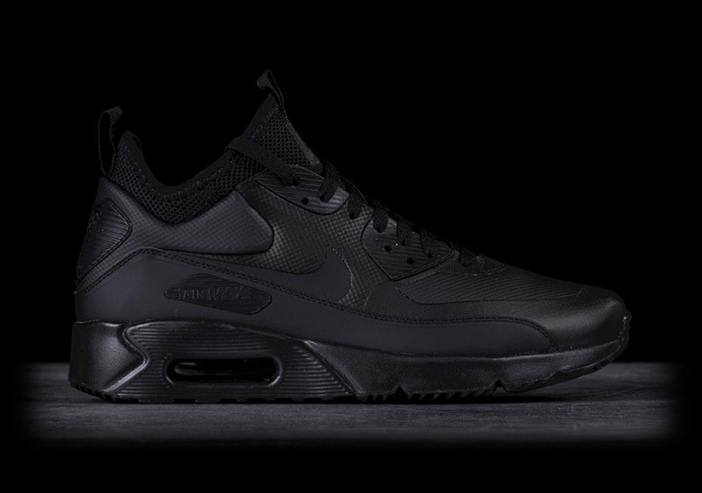 Nike Air Max 90 Mid Winter Leather And Mesh Sneakers, $135