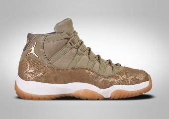 outlet store 0faf8 5bca1 BASKETBALL SHOES. NIKE AIR JORDAN 11 RETRO WMNS OLIVE LUX
