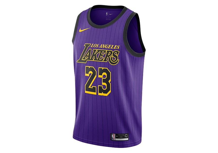 df704171ec6c NIKE NBA LOS ANGELES LAKERS LEBRON JAMES SWINGMAN JERSEY FIELD PURPLE price  €87.50