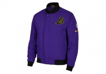 NIKE NBA LOS ANGELES LAKERS COURTSIDE JACKET FIELD PURPLE