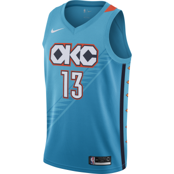 NIKE NBA PAUL GEORGE OKLAHOMA CITY THUNDER SWINGMAN JERSEY