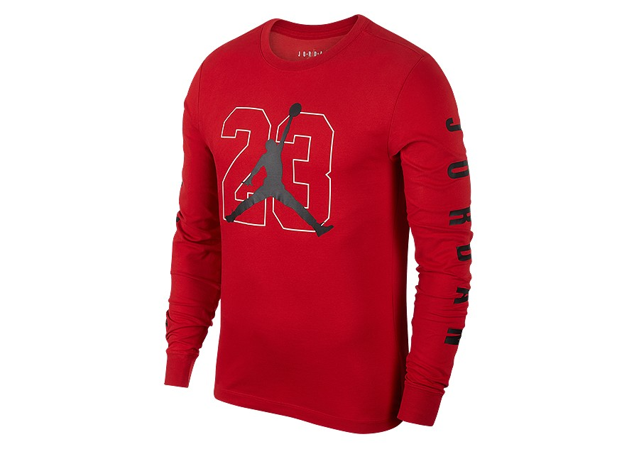 c8c2b87aa NIKE AIR JORDAN JBSK LONG-SLEEVE TEE GYM RED price €37.50 ...