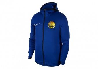 NIKE NBA GOLDEN STATE WARRIORS THERMAFLEX SHOWTIME HOODIE RUSH BLUE