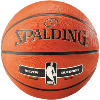 SPALDING NBA SILVER OUTDOOR (SIZE 7)