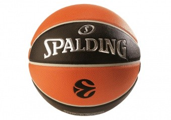 SPALDING EUROLEAGUE TF 1000 LEGACY (SIZE 7) ORANGE/BLACK
