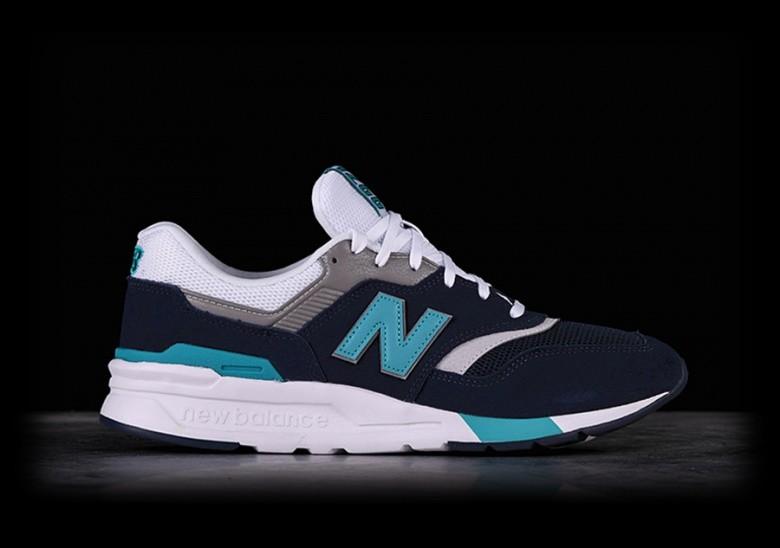 NEW BALANCE 997H PIGMENT WITH NEON AQUA BLUE